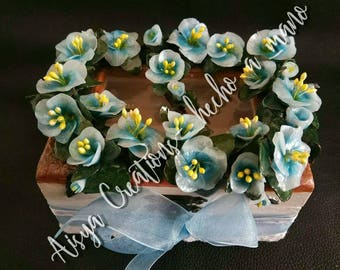 Blue Flowers Box