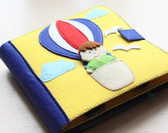 Handmade Activity Quite Book 8 Pages, Busy Book, Book for Toddler, Sensory toy, Book for children