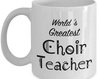 Choir Teacher Mugs Gifts - Teacher Appreciation Gift - Men, Women, Coworkers - Gift for Retired Choir Teachers - End of Year Gift, Christmas