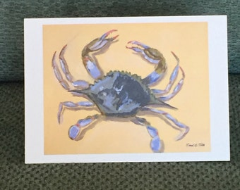 Blue Crab 5x 7 Notecard