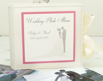 Personalised Bride & Groom Wedding Photo Album