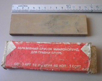 scarce to find /  USSR / soviet / Sharpening stone for shaving razors