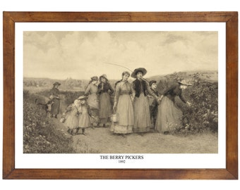 The Berry Pickers, 1892; 24x36 inch print reproduced from a vintage painting or lithograph