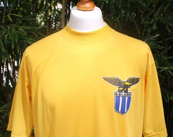 Retro Lazio Short Sleeved T-shirt - Size Extra Large