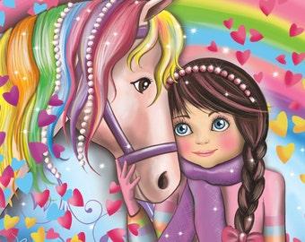 Fabric coupon magic horse