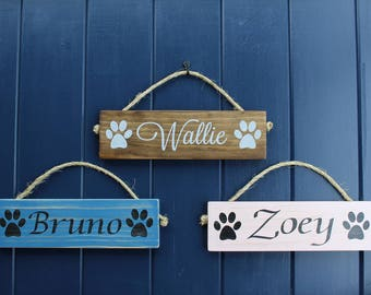 Dog Sign/Pet Name Sign/Dog Name Sign/Rustic Pet Sign/Dog Lover Sign/Pet Sign/Custom Dog Name Sign/Kennel Decor/Dog Paw sign/Sign About Dogs