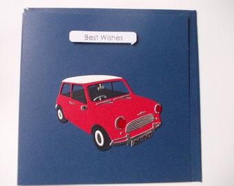 Handmade Birthday Card (1 Card) - Red Mini