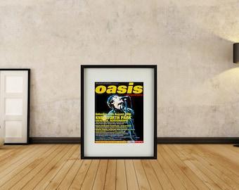 Oasis - Knebworth Park Poster Framed Print