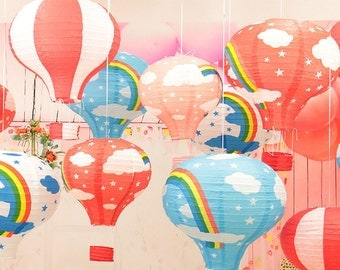 Colourful Papaer Hot Air Balloon Decor / Indoor Decoration / Paper Latern