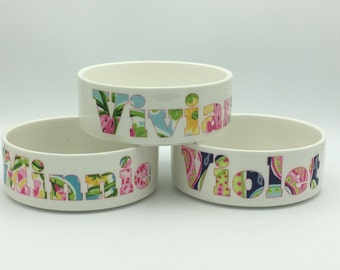 Lilly Pet Bowl | Personalized Pet | Cat Bowl | Dog Bowl | Pet Accessory | Pet Food Bowl