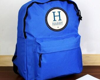 Blue star personalised rucksack