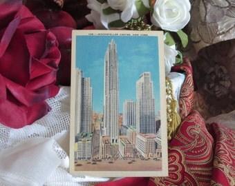 Rockefeller Center - New York - Postcard