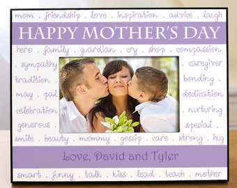 Personalized Mother's Day Printed Photo Frame Custom Name Gift