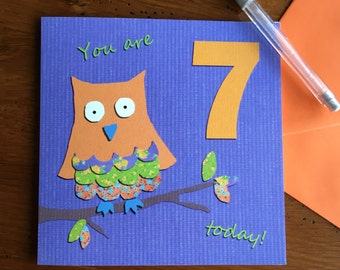 7th birthday card