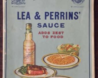Vintage 1929 Lea & Perrins recipe booklet