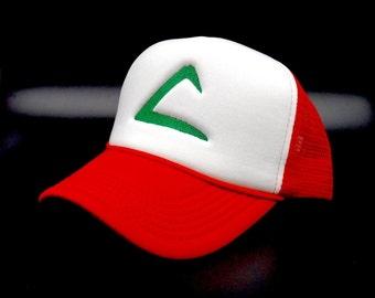 Embroidered Pokémon Ash Ketchum Hats - Red, Yellow, Blue.