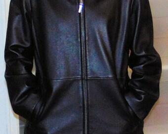 Vintage Andrea Viccaro Black Leather Jacket/coat szM Excellent condition!