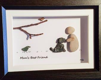 Man's Best Friend - Pebble Art