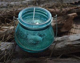 Ocean Seashell Gel Candle in a Jar