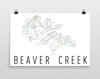 Beaver Creek Ski Map Art, Beaver Creek Colorado, Beaver Creek Trail Map, Colorado Art, Colorado Print, Colorado Gifts, Colorado Poster