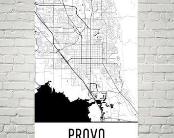 Provo Map, Provo Art, Provo Print, Provo UT Poster, Provo Wall Art, Provo Gift, Provo Decor, Provo Map Art, Provo Art Print, Modern Art