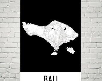 Bali Map, Bali Art, Bali Print, Bali Indonesia Poster, Bali Print, Bali Poster, Bali Wall Art, Bali Gift, Bali Decor, Modern, Bali Art Print