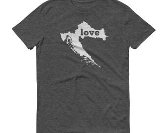 Croatia, Croatian Clothing, Croatia Shirt, Croatia T Shirt, Croatia TShirt, Croatia Map, Croatian Gifts, Made in Croatia, Croatia Love Shirt