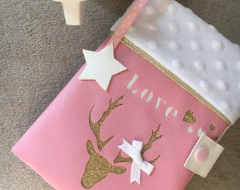 White and pink deer health book