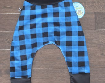 Hipster pants evolutionary plaid blue with black stripes