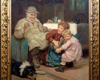 Fantastic Original Oil Painting by Acclaimed Artist Arthur J. Elsley