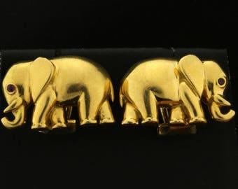 18k Elephant Earrings