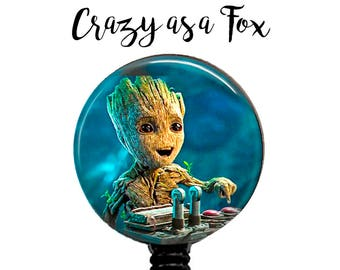 Guardians of the Galaxy Vol 2 Groot Retractable Badge Holder, ID Badge Holder, Retractable Badge Reel,  Guardians of the Galaxy 2 Badge Reel