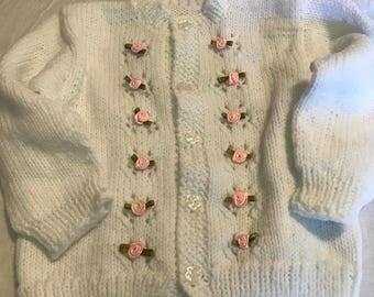 Girls Sweater 8-12 month white sweater