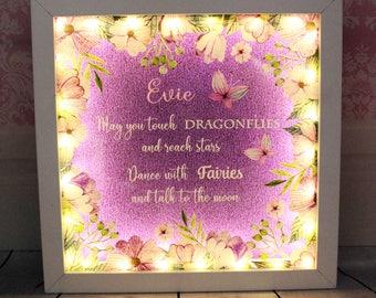 Peronalised Light Up Inspirational Frame LED Lights Gift Home Decor Gift For Her Home Decoration