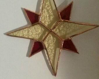 Tiffany window pendant star. Christmas decoration