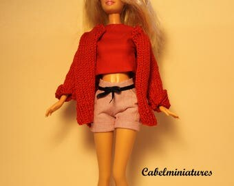 BARBIE, POPPY PARKER, clothes 3 pieces for Barbie doll, scale 1/6