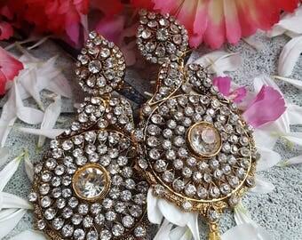 Asian wedding style earrings bollywood brides