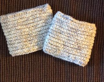 Crocheted Boot Cuffs-Beige