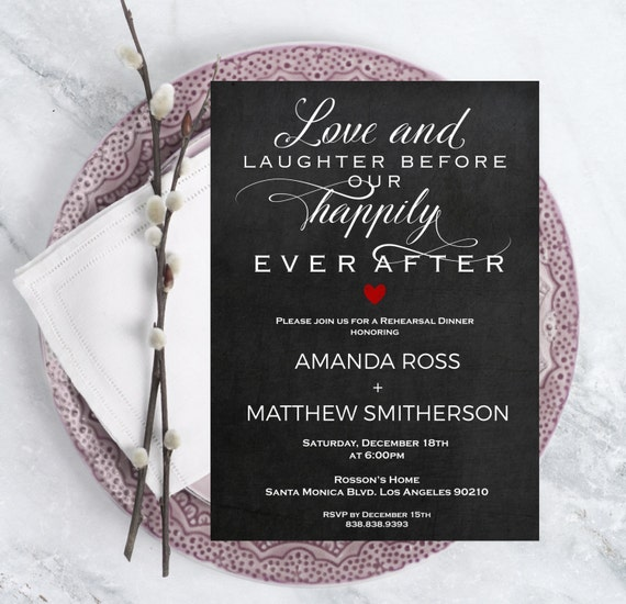 Rehearsal dinner invitation template - Rehearsal dinner invitation instant download - Chalkboard Rehearsal -  Downloadable Wedding #WDH0210