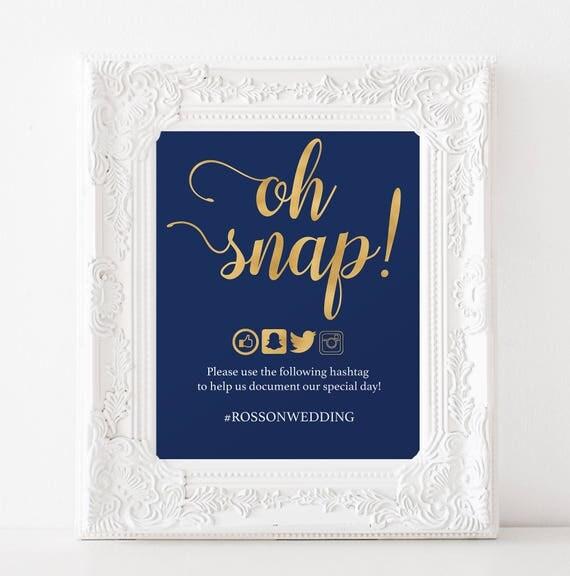 social media sign wedding
