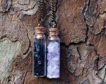 Crystal Vial Necklace