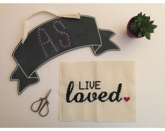 Live Loved Cross Stitch