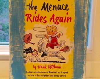Dennis the Menace vintage book cover wood sign