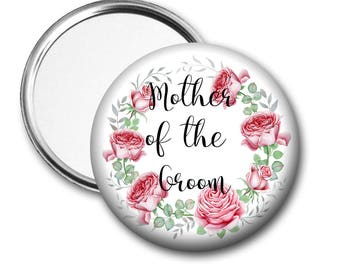 Blooms Mother of the Groom 58 mm 2.5 inch Pocket Mirror
