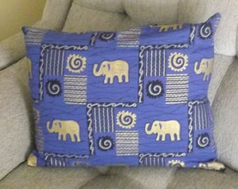 Pillow Cover - Purple with Gold Elephants