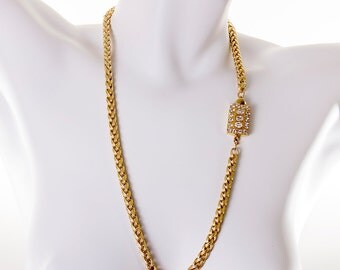 "Rare Vermeil LAINE HOADLEY Gold-Filled 28"" Necklace"