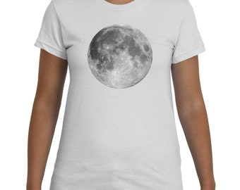 Full Moon White TShirt Women