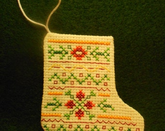 Christmas tree stocking ornament