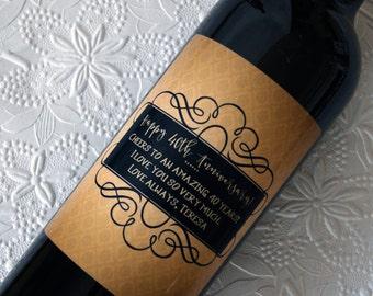 Anniversary Gift, Wine Label, Wedding Gift, Wedding Wine Label, Engagement Gift, Custom Wine Label, Personalized Wine Label, Wine Label