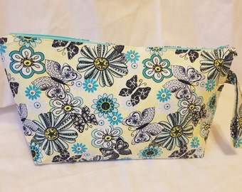 Large Butterflys and Flowers Project Bag #1